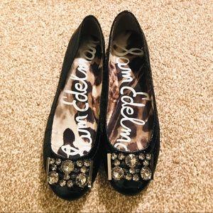 Sam Edelman caper Jeweled ballet flats black 7